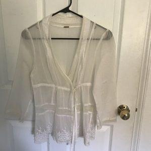 Free People sheer blouse